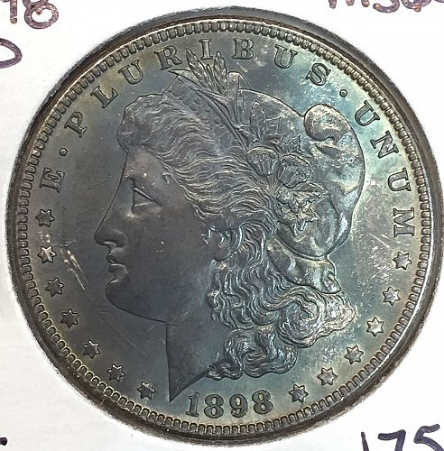 1898-O Morgan Dollar MS-64 Toned