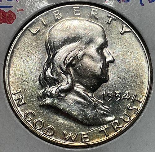 1954 D Franklin Half Dollars. 3942