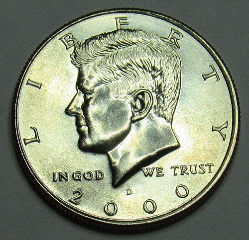 2000 D Kennedy Half Dollar in BU condition
