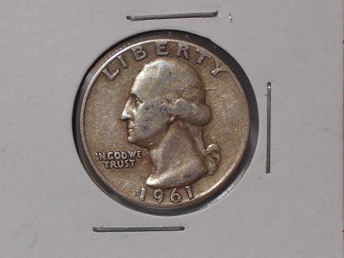 "1961 ""P"" Washington quarter circulated"
