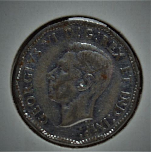 1945 Canada 5 Cents - AU Prooflike Details