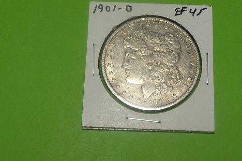 1901O Morgan Dollar  EF45  #$-1901O-2