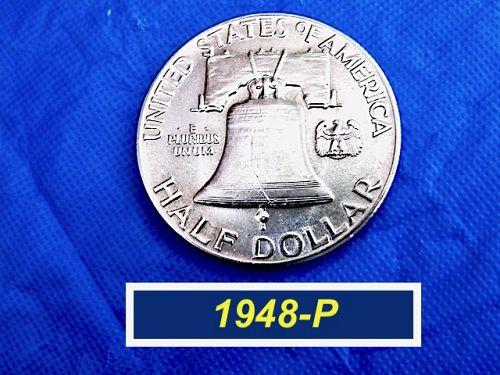 """🔜1948-P  """"AU"""" Franklin Half  ⭐️  FBL  ⭐️ """"AU-58"""" ⭐️ (1310)"""
