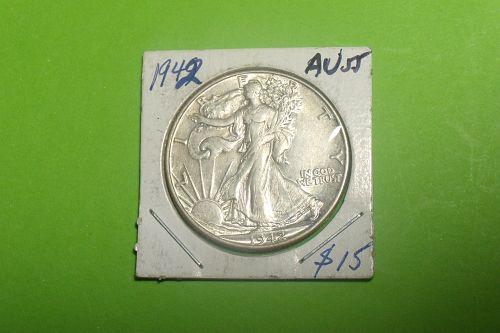 1942 Walking Liberty Half Dollar  AU55  #50-1942-5
