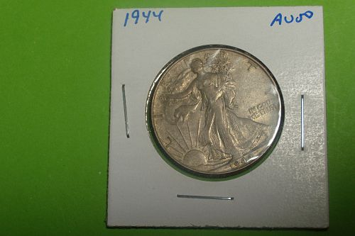 1944 Walking Liberty Half Dollar  AU50  #50-1944-1