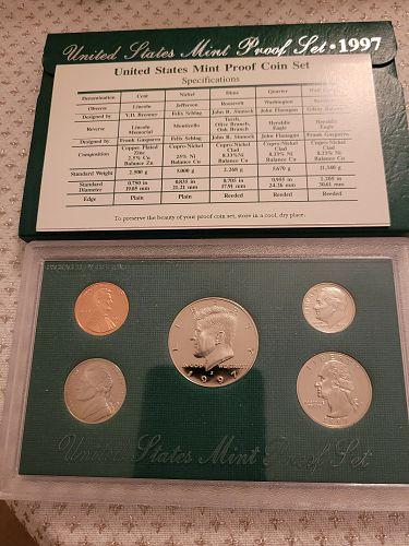 1997-S United States Mint Clad Proof Set