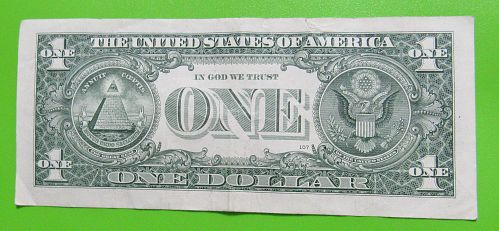 2013 $1 US Banknote - G Seal Bank of Chicago