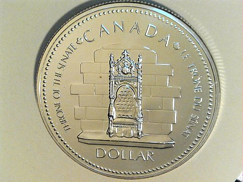 1977 Proof Canada Throne of Senate Silver Dollar (price dropped 8/16/21)