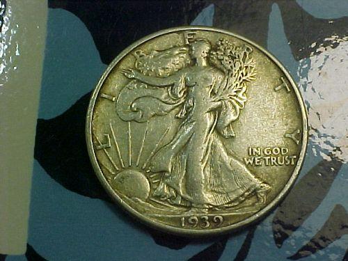 1939 WALKING LIBERTY HALF DOLLAR            ap31