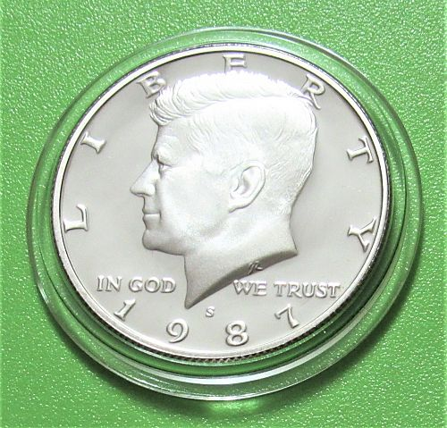 1987-S 50 Cents - Kennedy Half Dollar - Cameo Proof