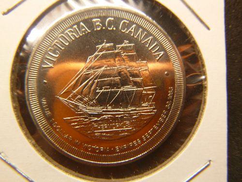 VICTORIA BC CANADA CITY OF GARDENS 1983 ONE DOLLAR TOKEN