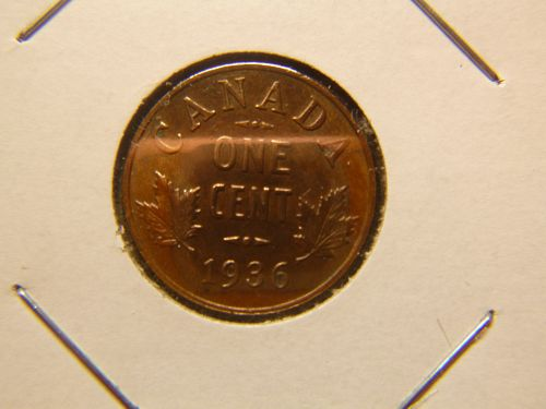 CANADA 1936 1 CENTS