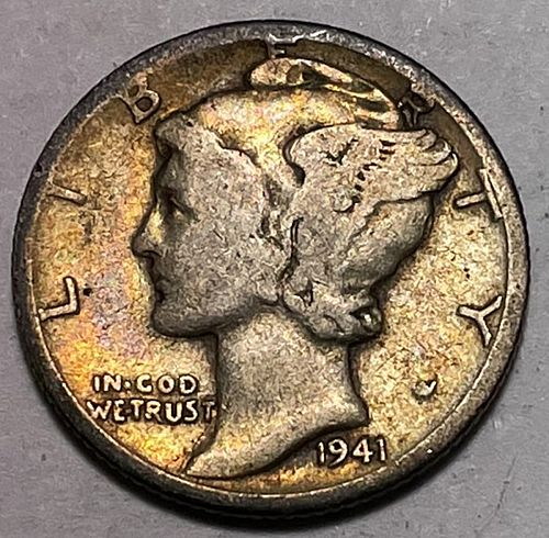 1941 D Mercury Dimes. 31022