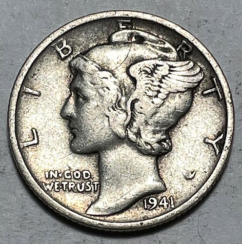 1941 S Mercury Dimes 31023