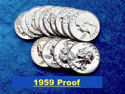 1959 Proof Washington's  ⭐️  Deep Mirror FIelds  ⭐️  (R2686)