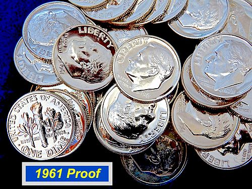 1961 PROOF SIlver Dime  ⭐️ Problem Free High Grade  Proofs  ⭐️(R3121)