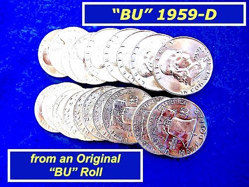 "1959-D Franklin  ⭐️   High Grade Satin ""BU""   ⭐️    (1799)"