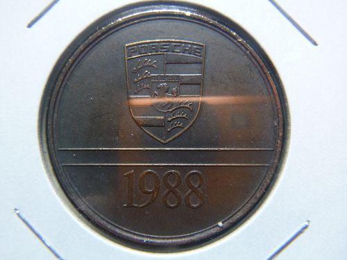 1988 PORSCHE INDY Racing Car Christophorus Calendar Coin Medal