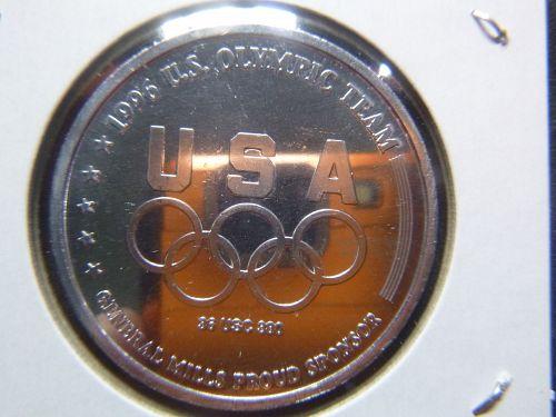 ATLANTA 1996 ATHELETICS AND OLYMPIC TEAM SPONSER ALUMINIUM COIN