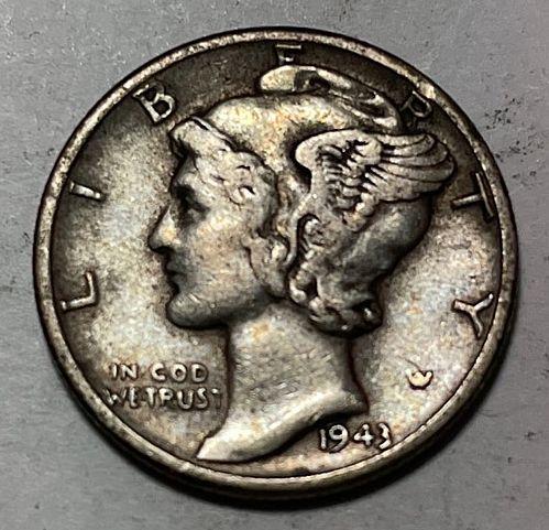 1943 Mercury Dimes 31034