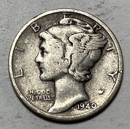1940 D Mercury Dimes  31043