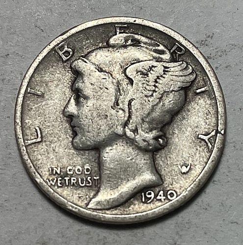 1940 S Mercury Dimes 31051