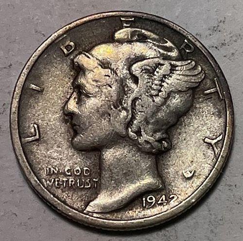 1942 D Mercury Dimes. 31052