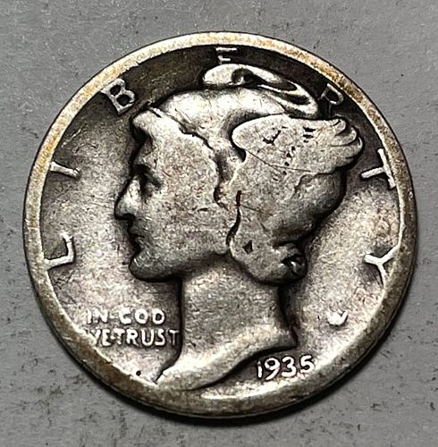1935 Mercury Dimes. 31111