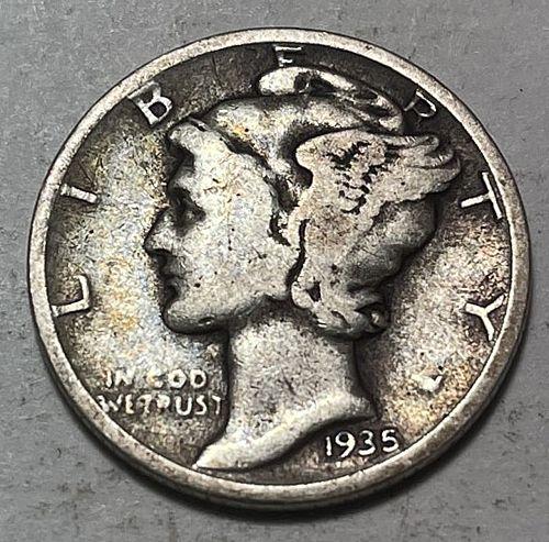 1935 Mercury Dimes. 31112