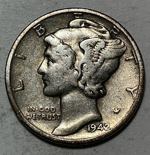 1942 Mercury Dimes 31113
