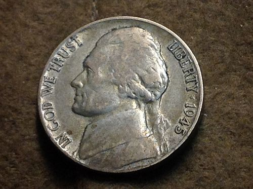 1945 P Jefferson Nickel (Partial Steps)