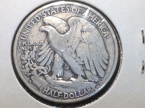 1934 S Walking Liberty Half Dollar