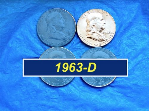 1963-D Silver Franklin  ⭐️ Uncirculated  ⭐️ (1170.UL)