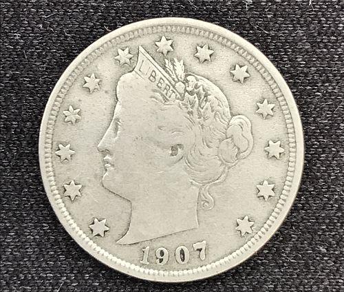 "1907 Liberty Head ""V"" Nickel--(0611-18)"