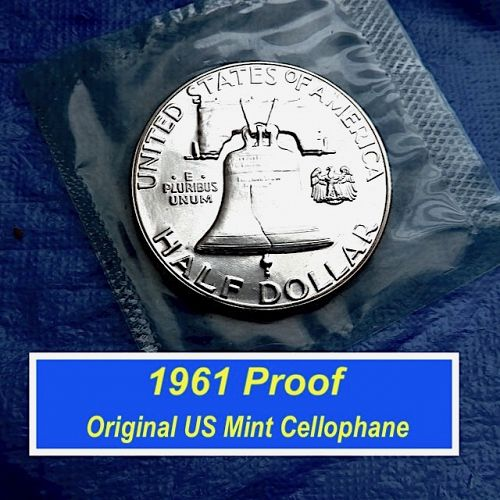 1961 Proof  ⭐️  US Mint CELLOPHANE Packaging   ⭐️  (1044a)