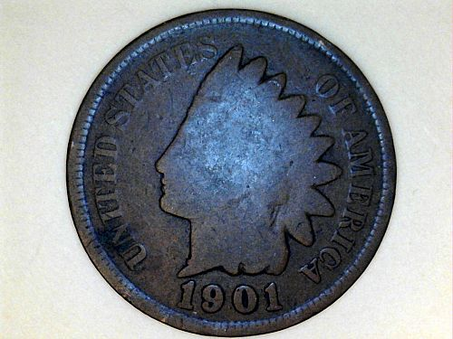 1901 Indian Head Cent---Good (price dropped 8/19)