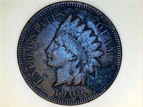 1909 P Indian Head Cent--AU Details, some corroding (price dropped 8/22)