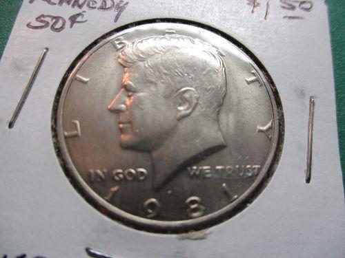 1981-P  Kennedy Half Dollar.  Item: 50 K81-05.