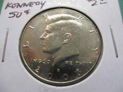 2005-D  Kennedy Half Dollar.  Item: 50 K05D-06.