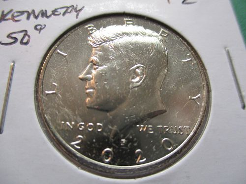 2020-P  Kennedy Half Dollar.  Item: 50 K20-07.