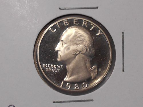 1980 S Proof Washington quarter 80-01