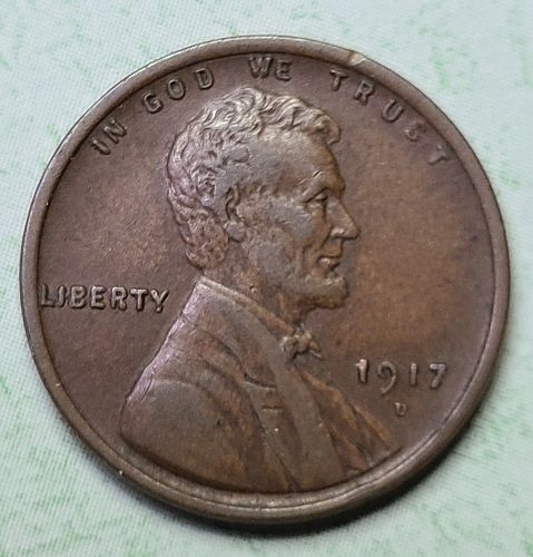 1917-D Lincoln Cent Very Fine-30 Nice Sharply Struck Milk Chocolate Brown!