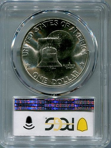 "1976 - S  Eisenhower Dollar  "" SILVER ""  PCGS  MS - 67"