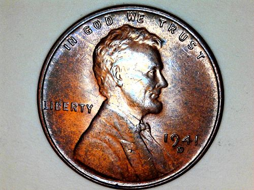 1941 D Lincoln Cent--Uncirculated