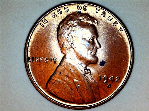 1942 D  Lincoln Cent---Uncirculated
