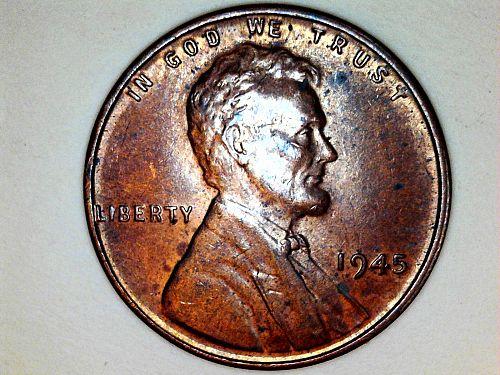 1945 P Lincoln Cent--AU