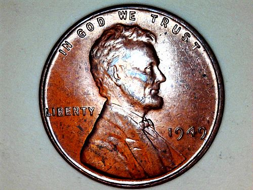 1949 P Lincoln Cent--AU-Uncirculated