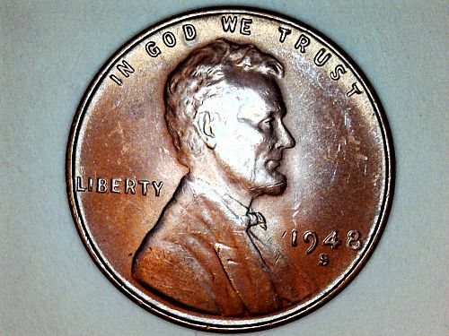 1948 S Lincoln Cent--UNC