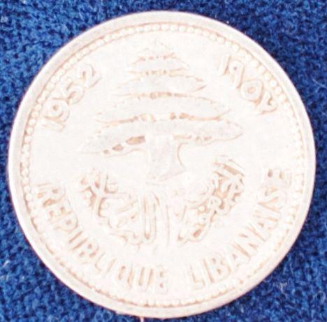 1952 Lebanon 5 Piastres VF