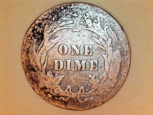 1913 P Barber Dime--Poor